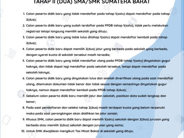Mekanisme Pendaftaran PPDB 2021 Tahap 2